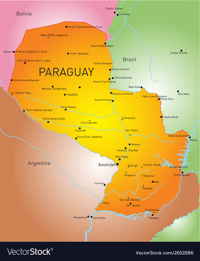 Paraguay vector | Price: 1 Credit (USD $1)