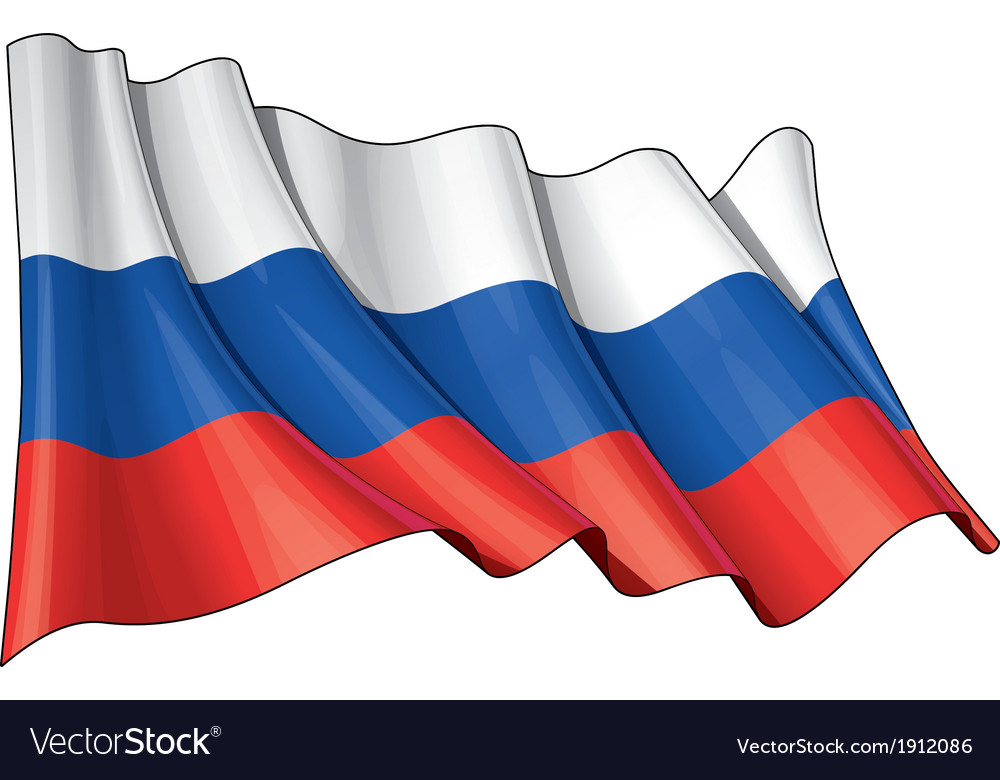 Russia national flag vector | Price: 1 Credit (USD $1)