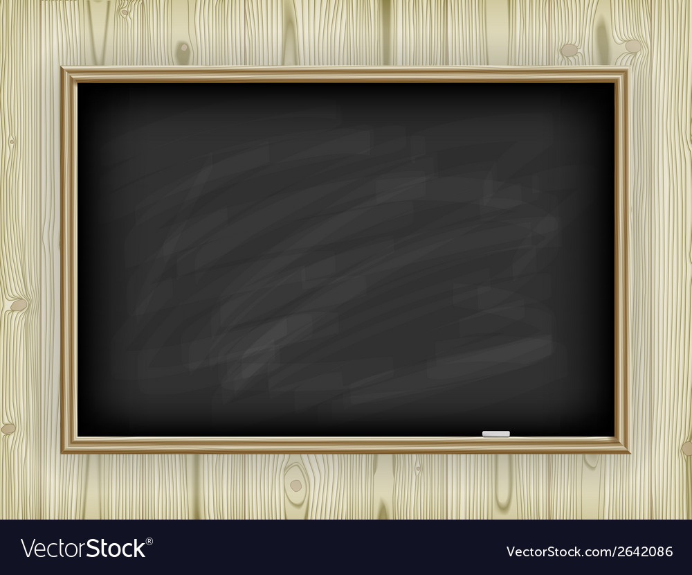 School board on wooden background vector | Price: 1 Credit (USD $1)