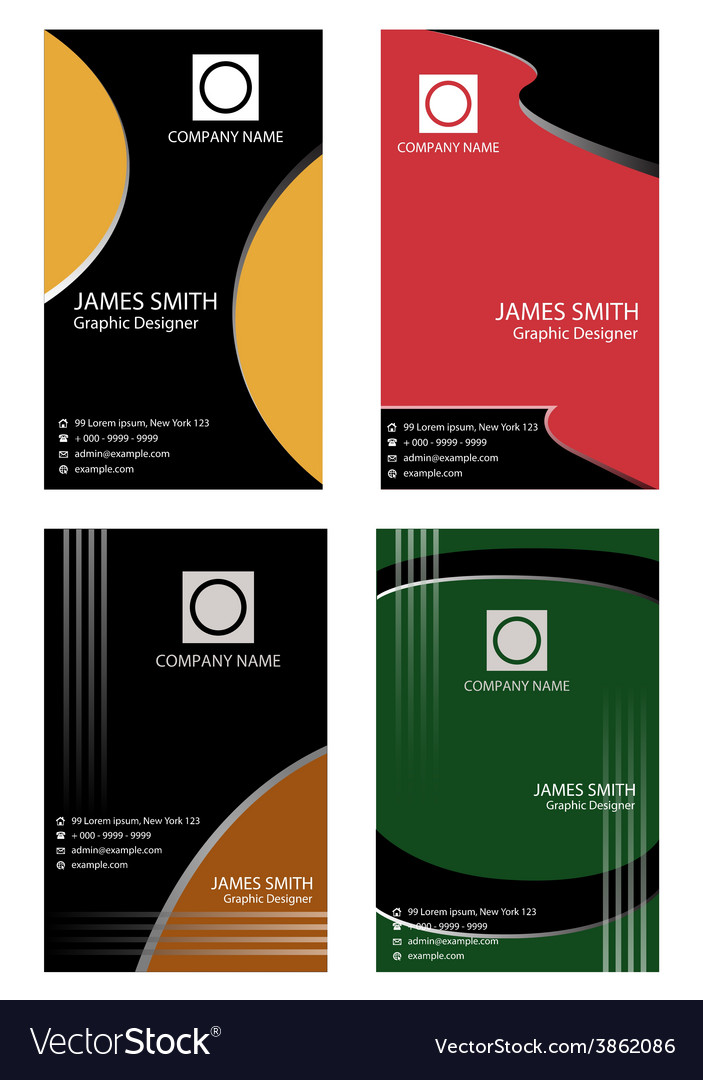 Set of vertical business card vector | Price: 1 Credit (USD $1)