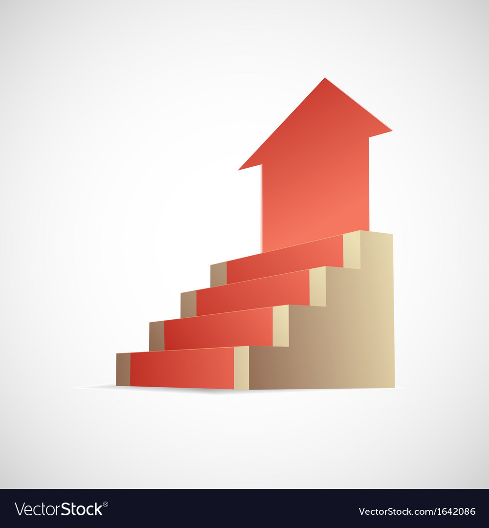 Stairway to success infographic vector | Price: 1 Credit (USD $1)