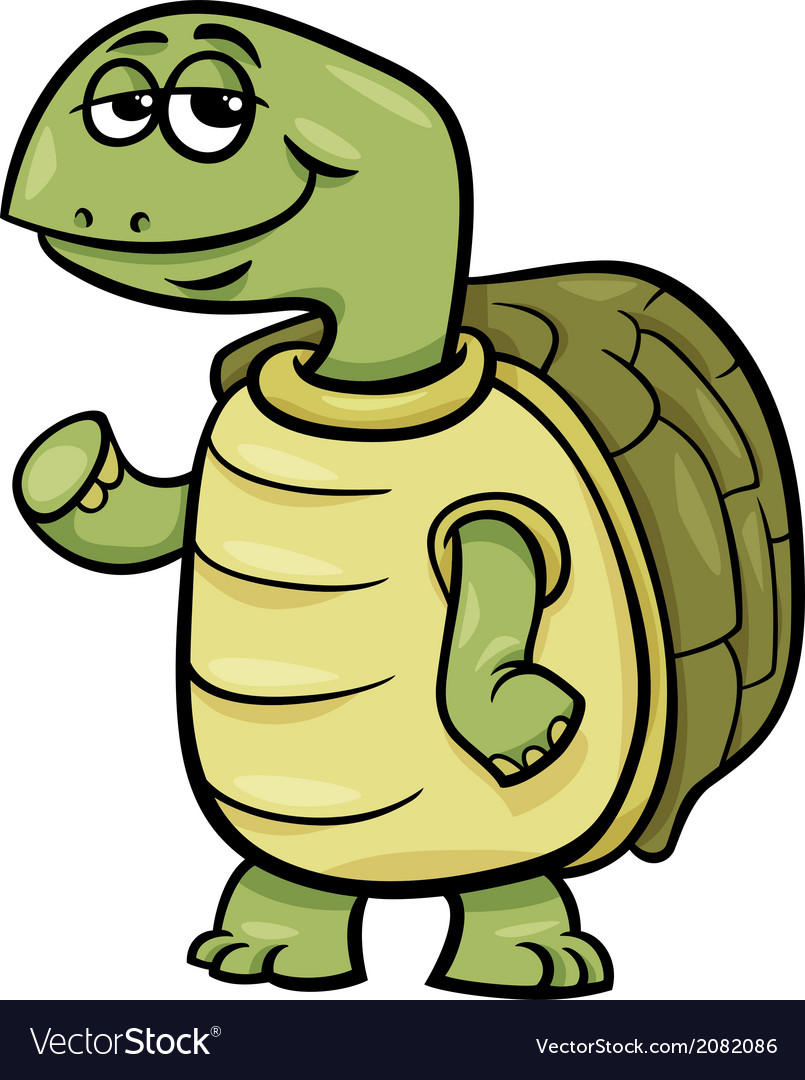 Turtle character cartoon vector | Price: 1 Credit (USD $1)