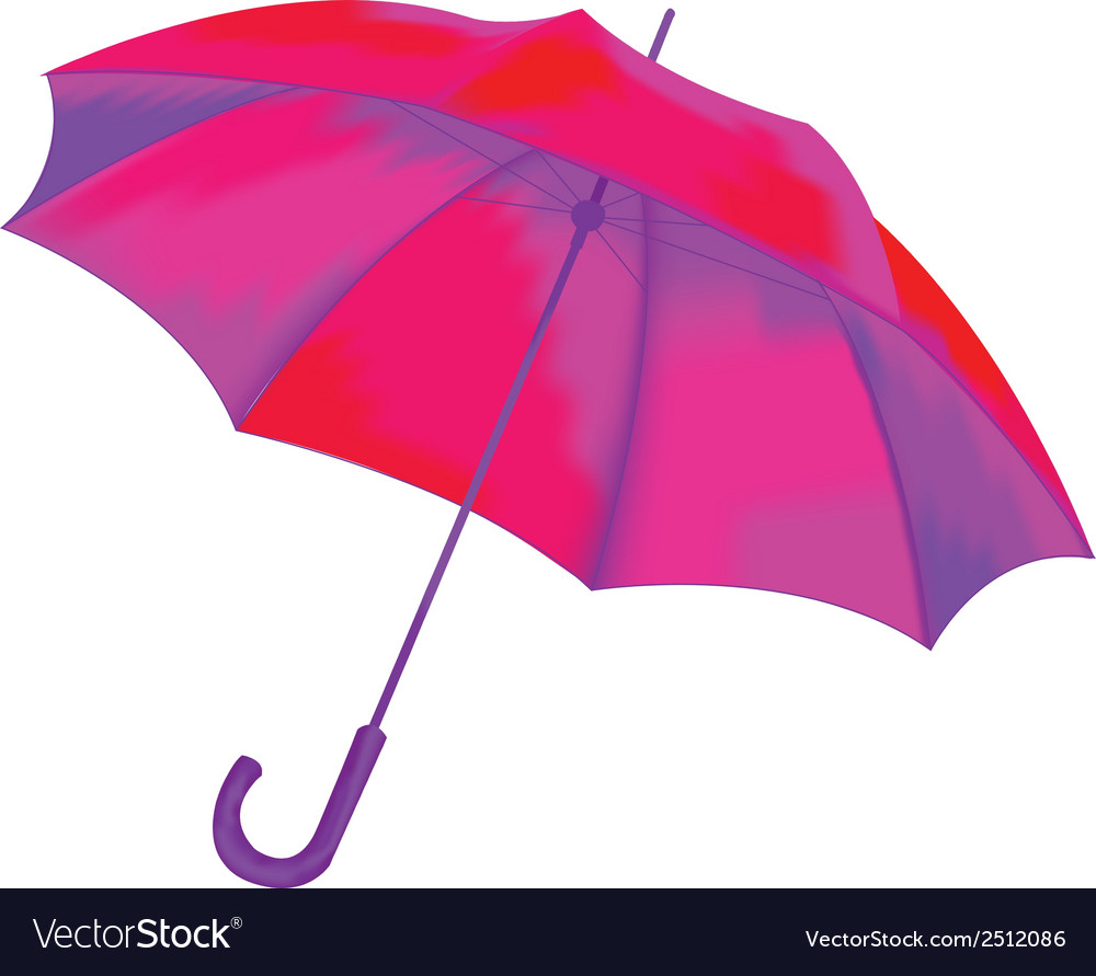 Umbrella on a white background vector | Price: 1 Credit (USD $1)