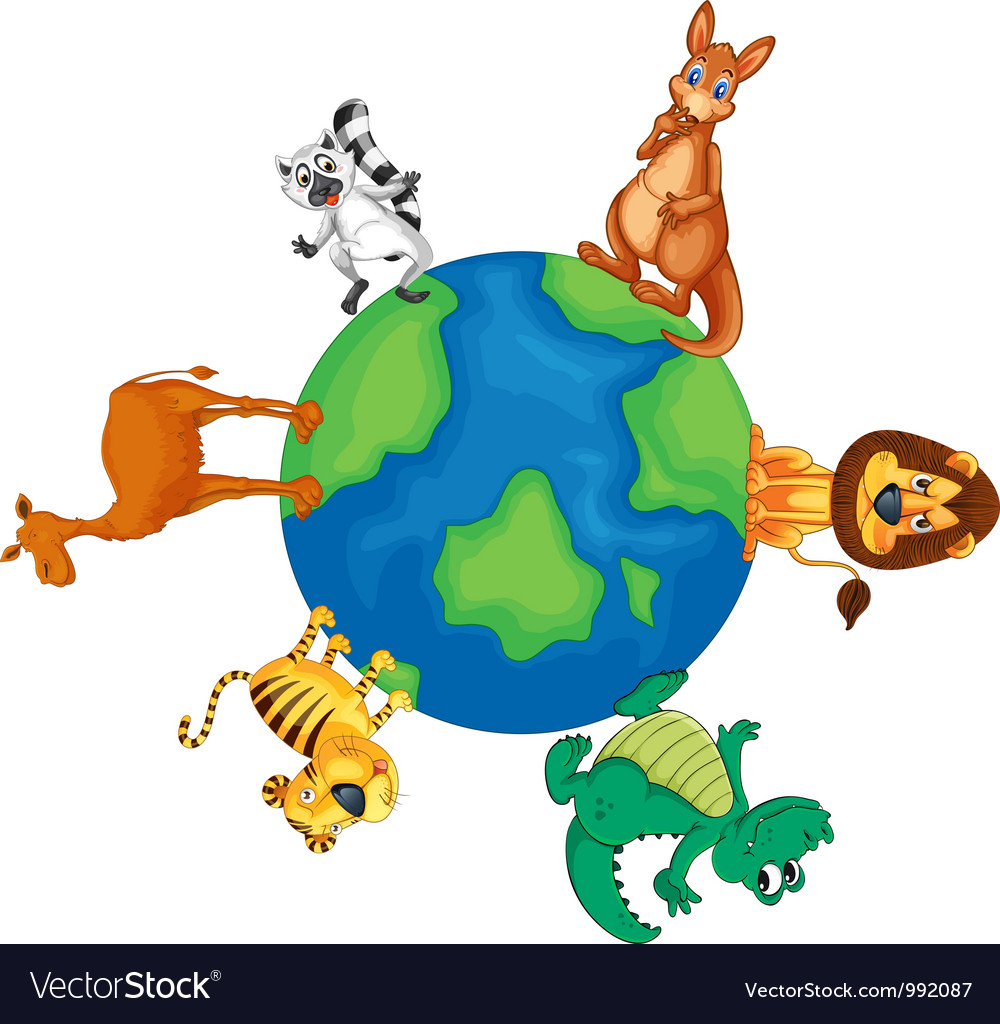 Animals around the world vector | Price: 1 Credit (USD $1)