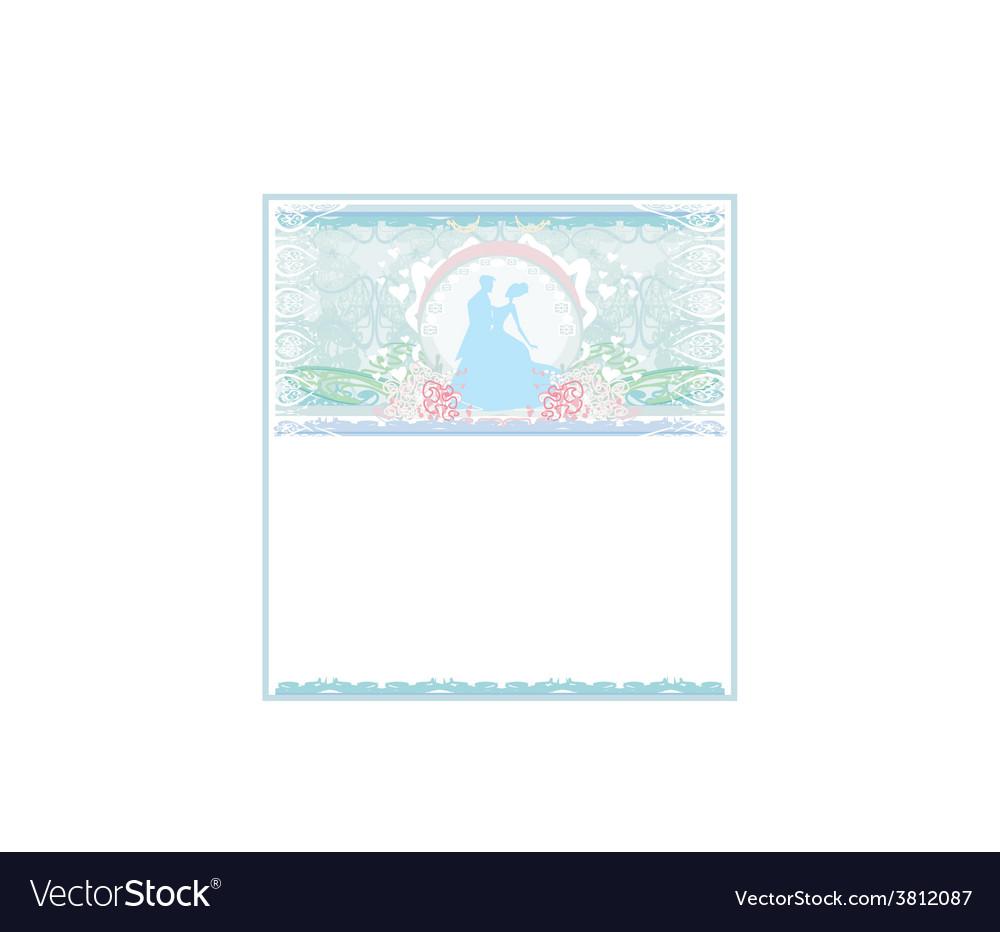 Ballroom wedding couple dancers - invitation vector | Price: 1 Credit (USD $1)