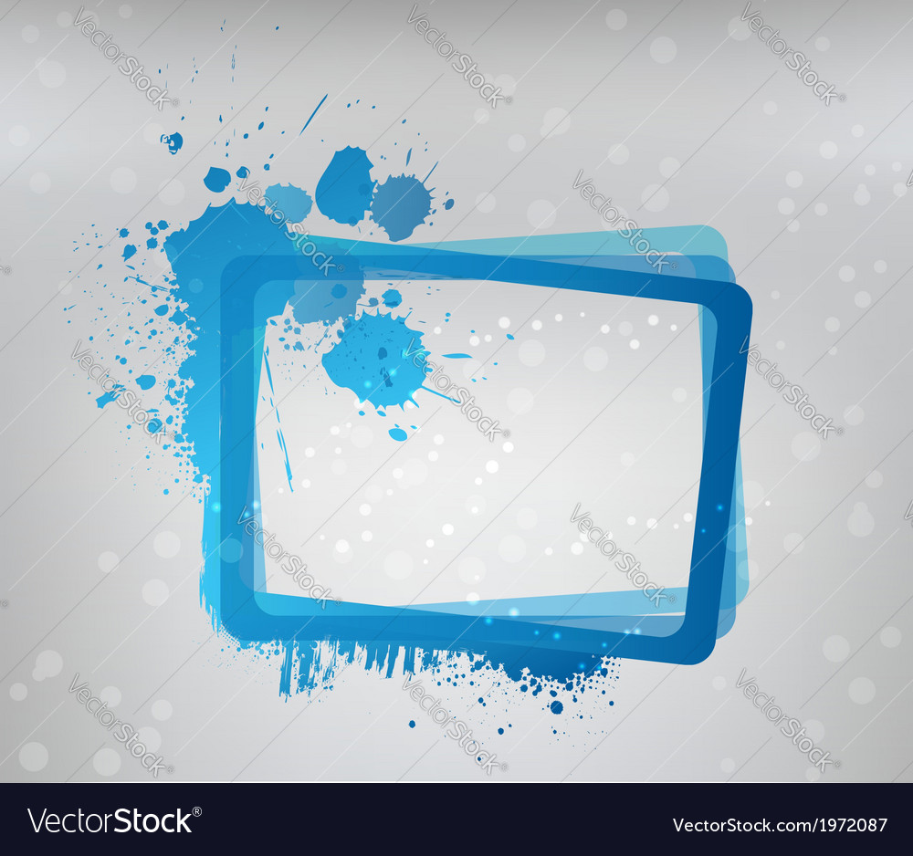 Blue grunge frame vector | Price: 1 Credit (USD $1)