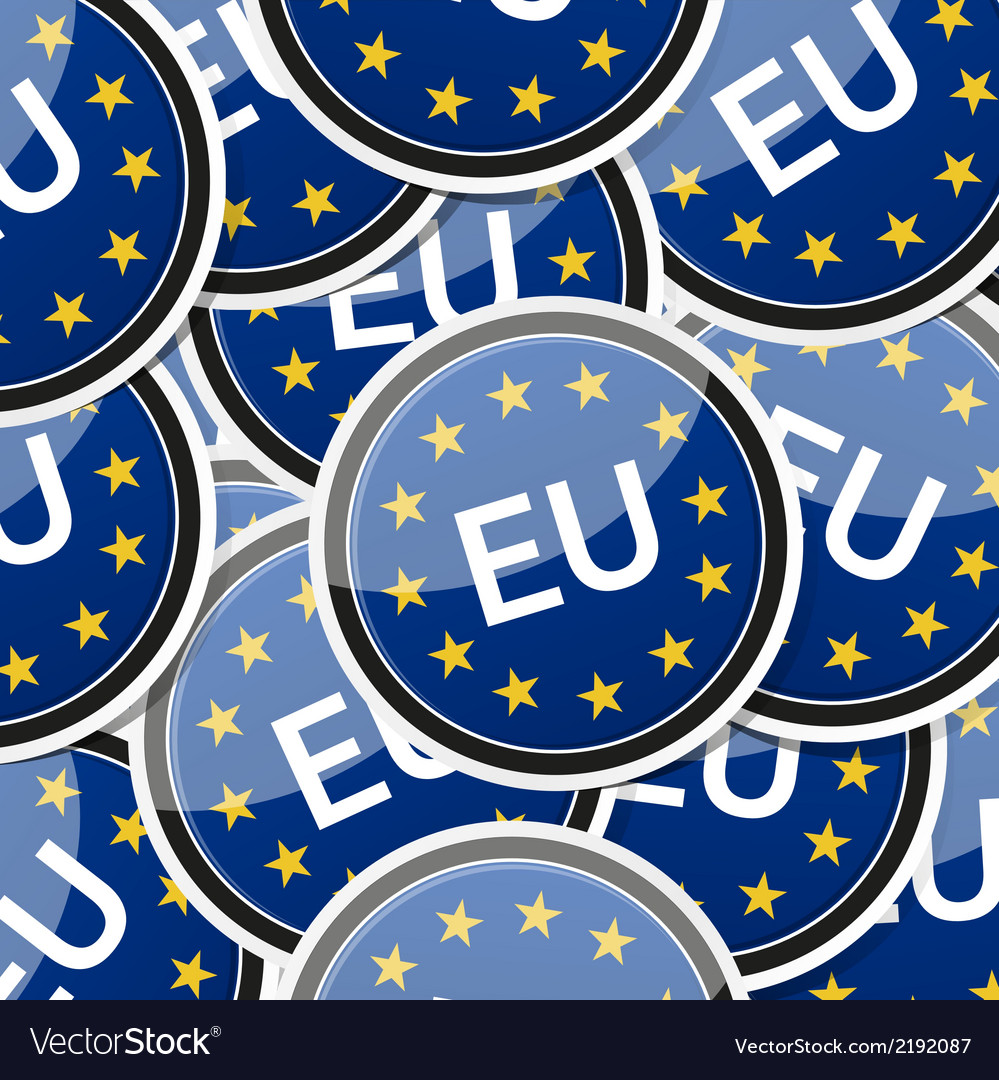 Eu flag sticker symbol vector | Price: 1 Credit (USD $1)