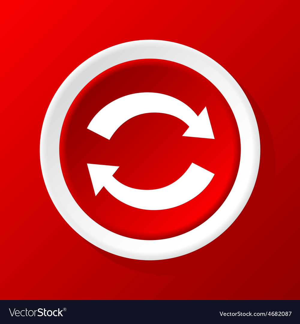 Exchange icon on red vector | Price: 1 Credit (USD $1)