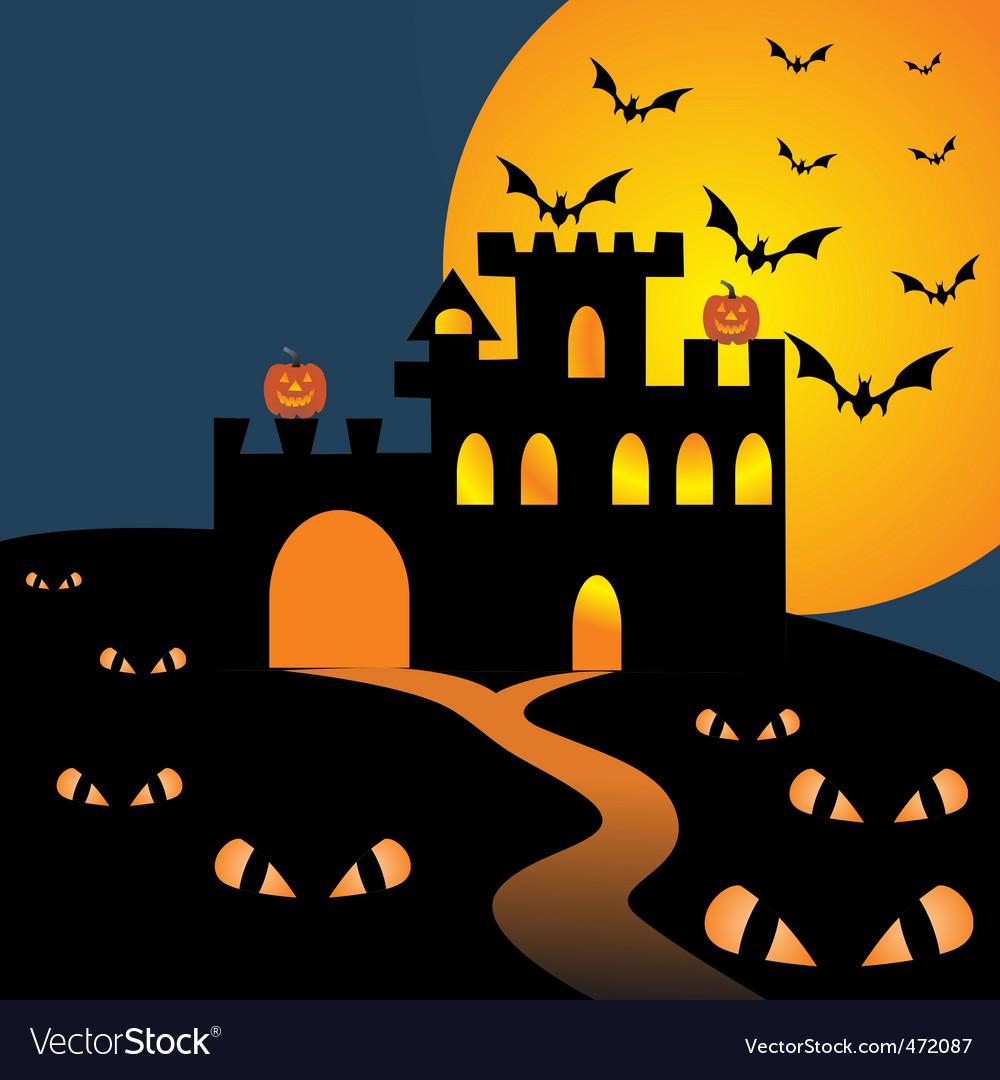 Halloween castle vector | Price: 1 Credit (USD $1)