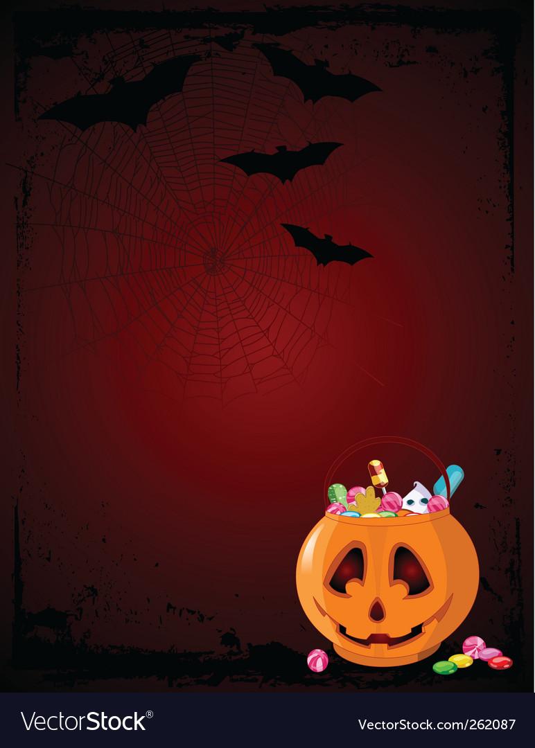 Halloween treats background vector | Price: 1 Credit (USD $1)