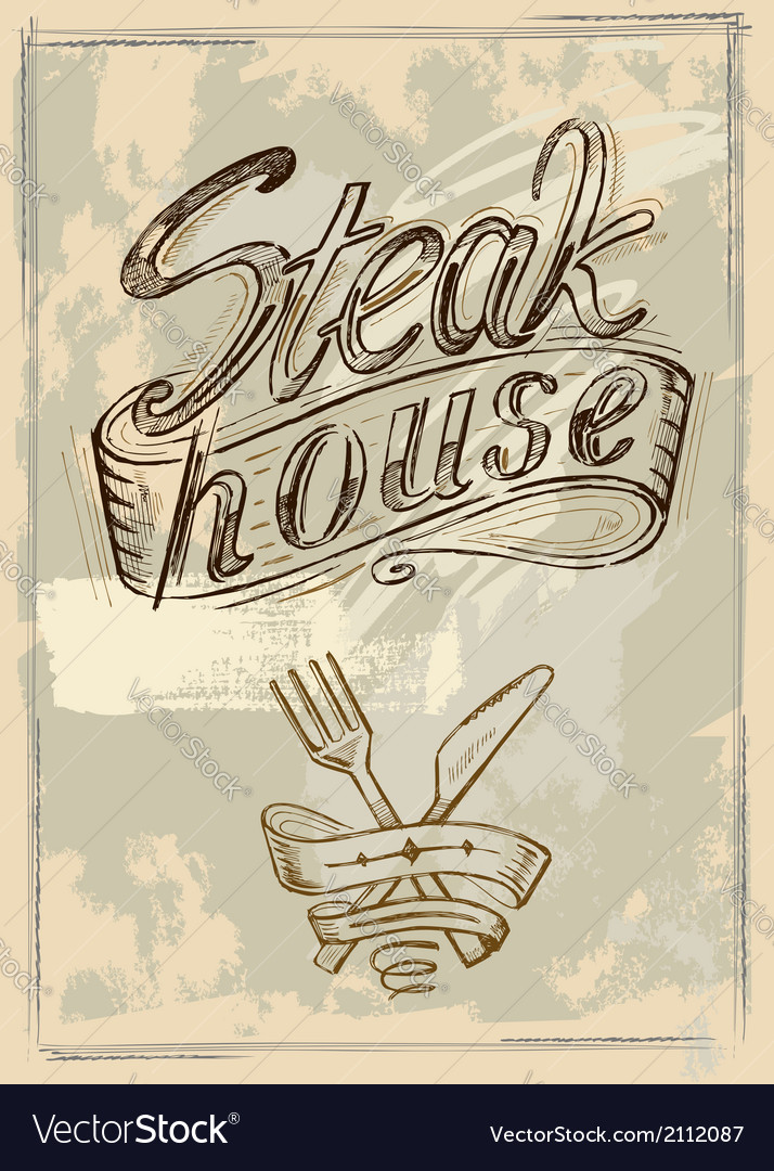 Hand drawn steak vector | Price: 1 Credit (USD $1)