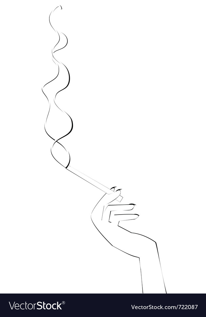 Hand with cigarette vector | Price: 1 Credit (USD $1)