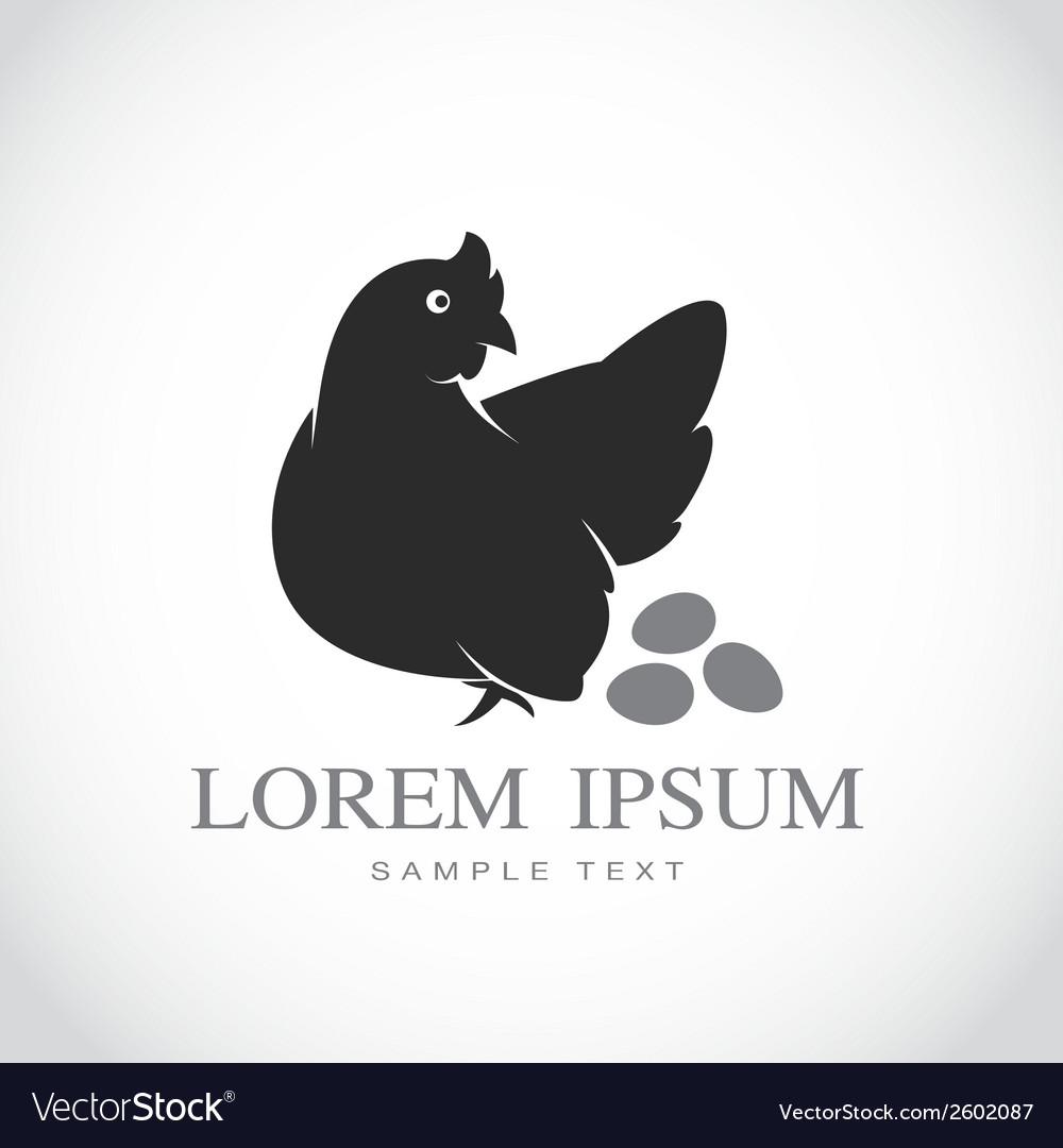 Hen and eggs vector | Price: 1 Credit (USD $1)