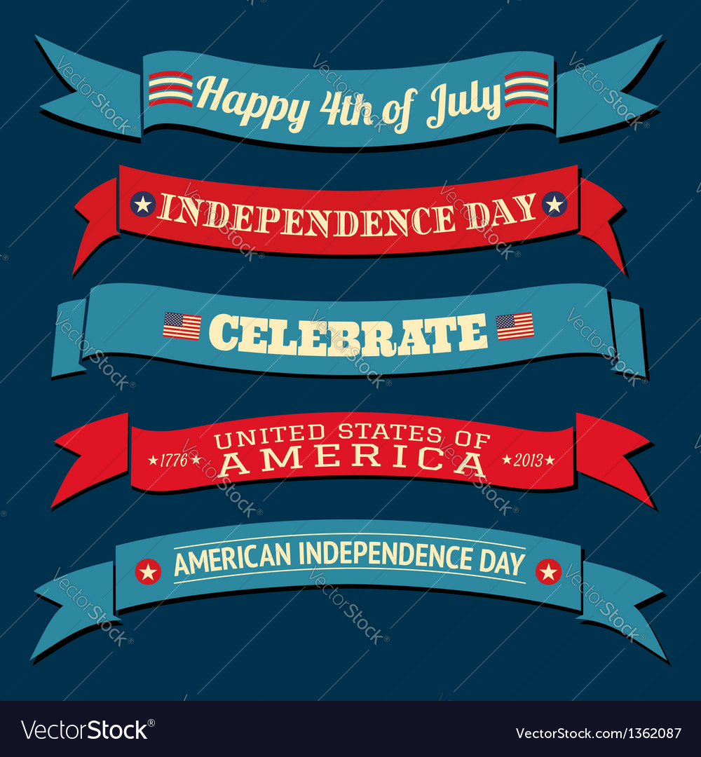 Independence day banners collection vector | Price: 1 Credit (USD $1)
