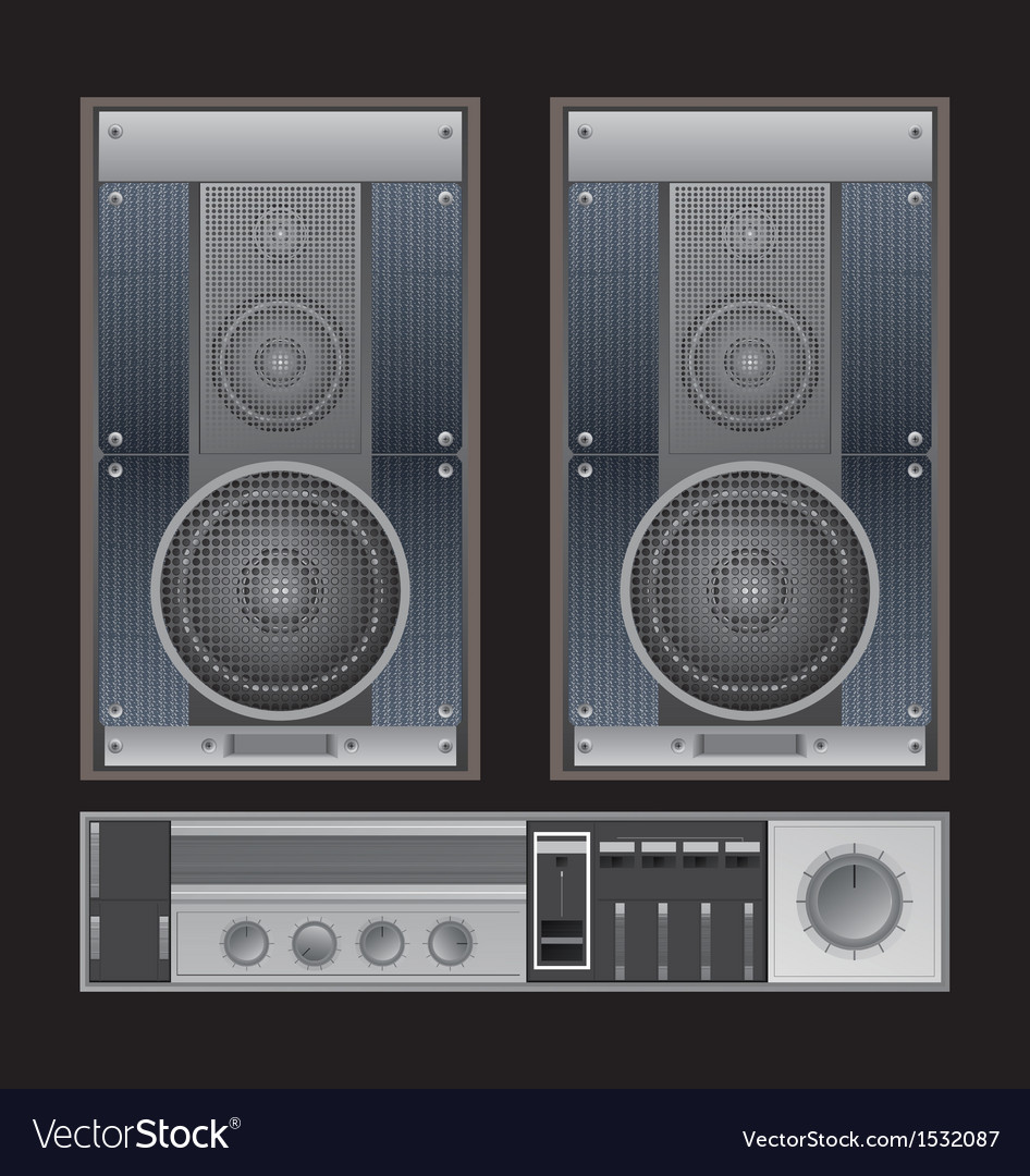 Old sound system vector | Price: 1 Credit (USD $1)