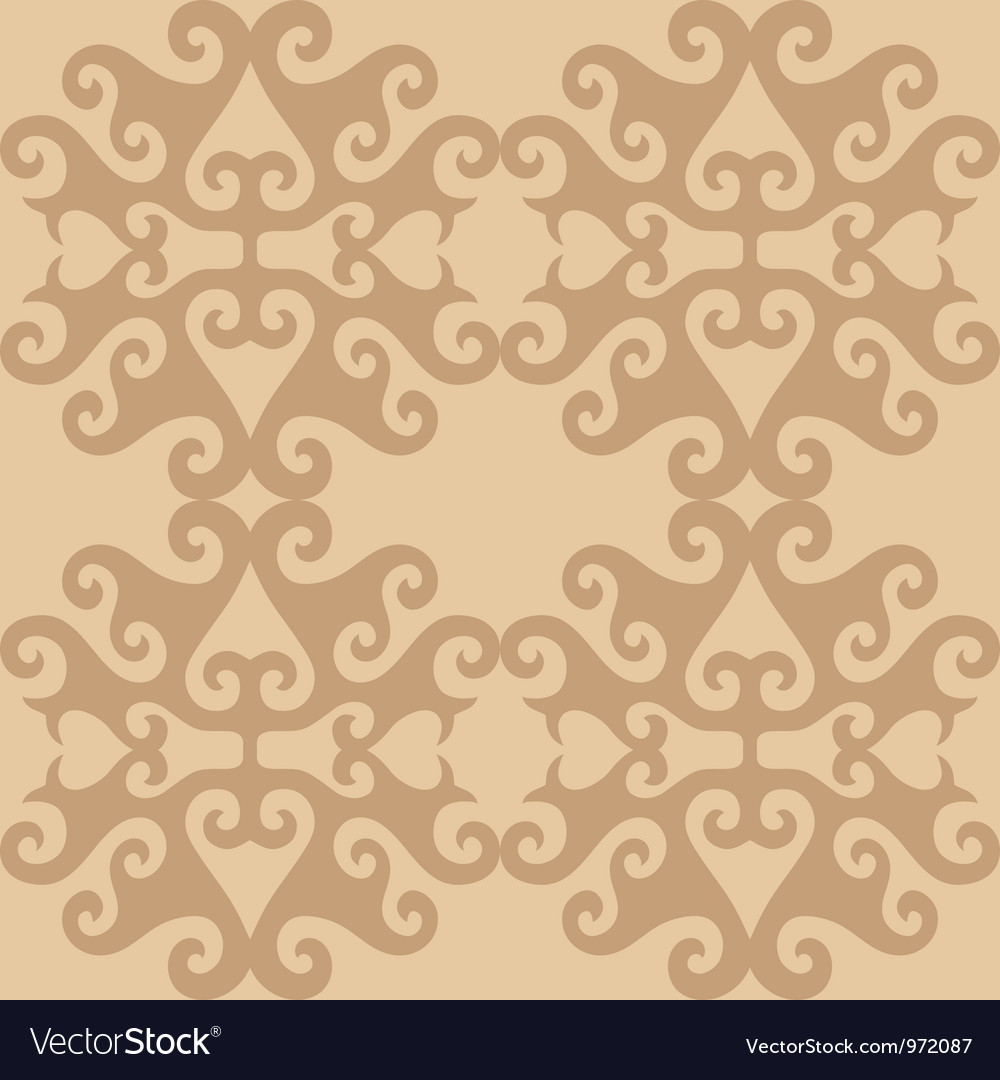Seamless eastern ornamental wallpaper vector | Price: 1 Credit (USD $1)