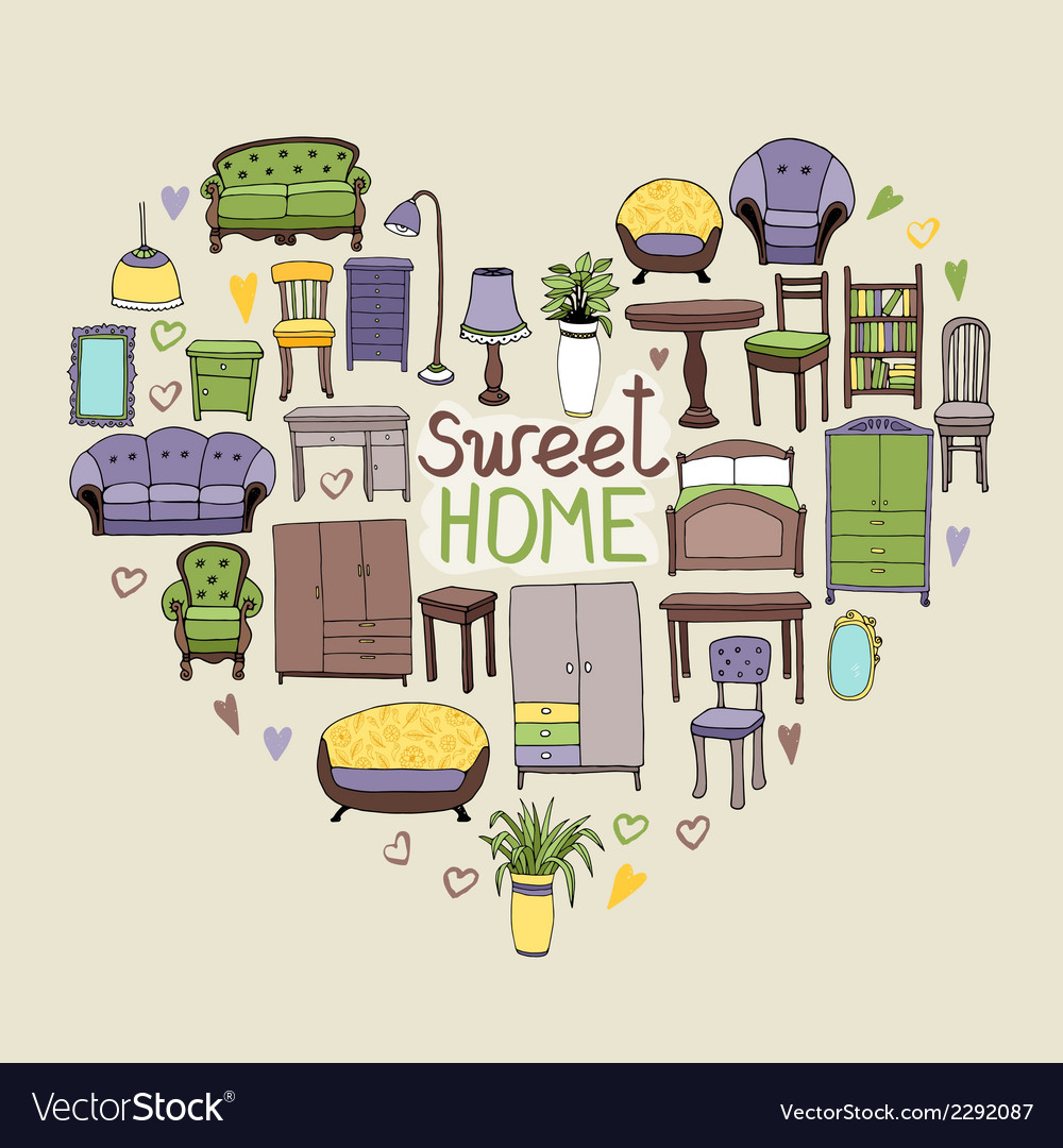 Sweet home concept vector | Price: 1 Credit (USD $1)