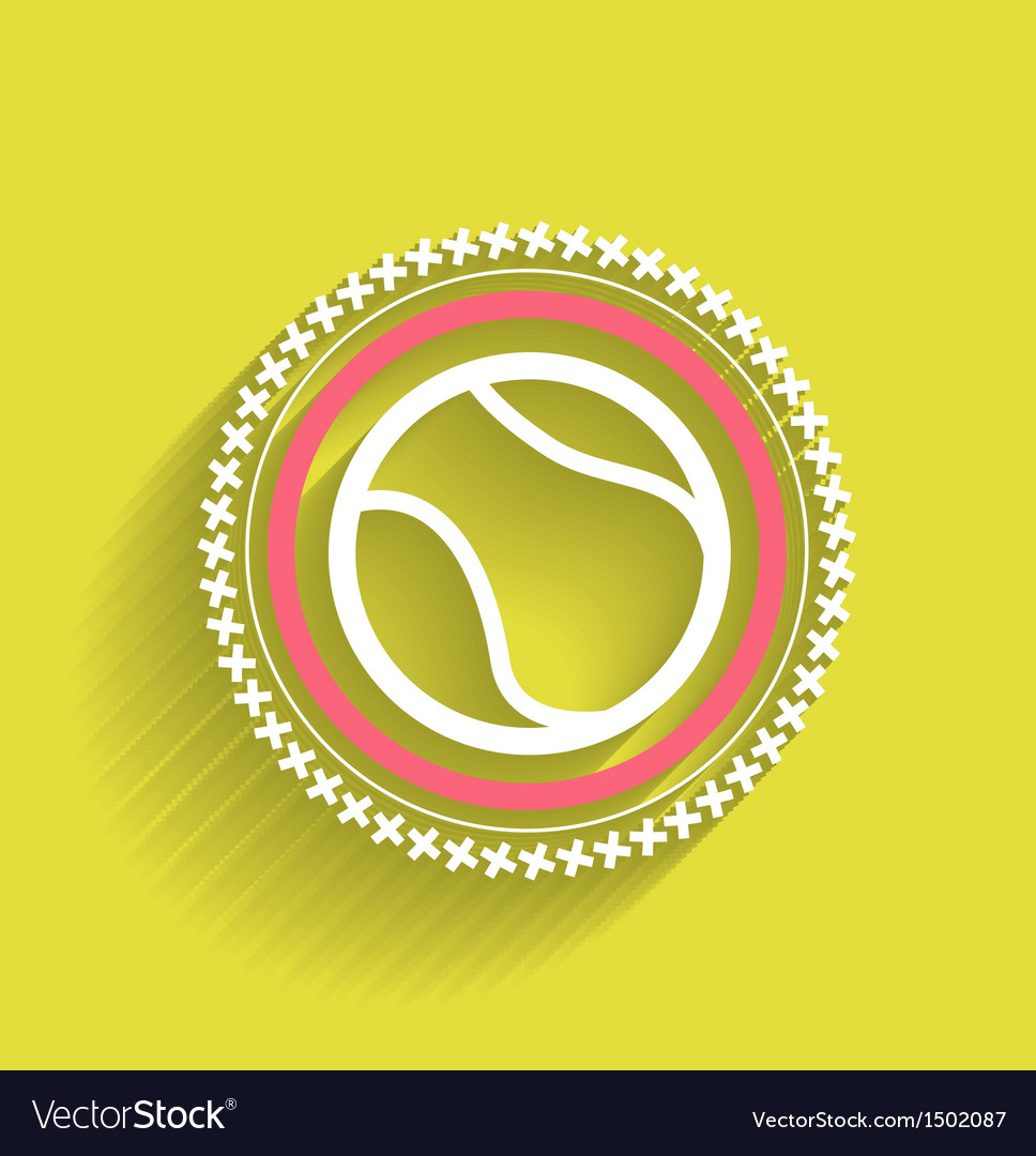 Tennis ball icon flat modern icon vector | Price: 1 Credit (USD $1)