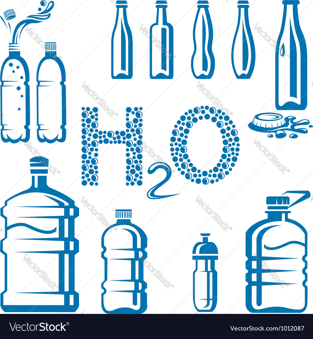 Water bottles vector | Price: 1 Credit (USD $1)