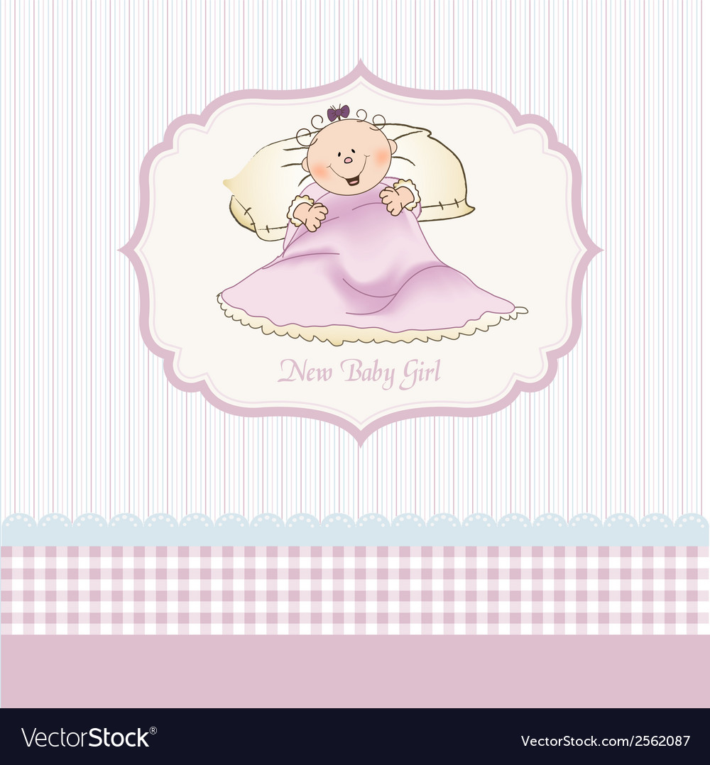 Welcome new baby girl vector   Price: 1 Credit (USD $1)