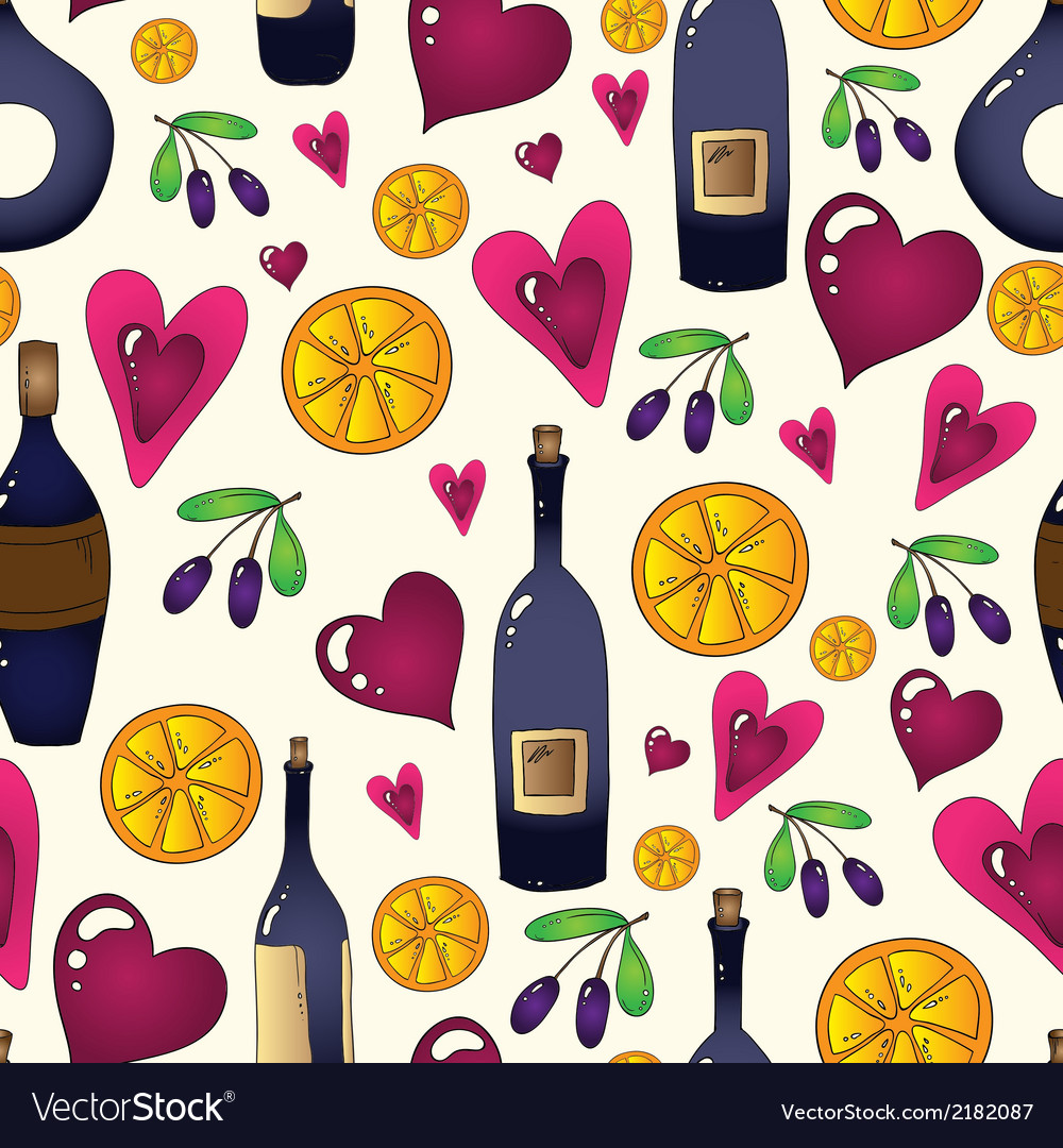 Wine seamless background in  used clipping mask vector | Price: 1 Credit (USD $1)