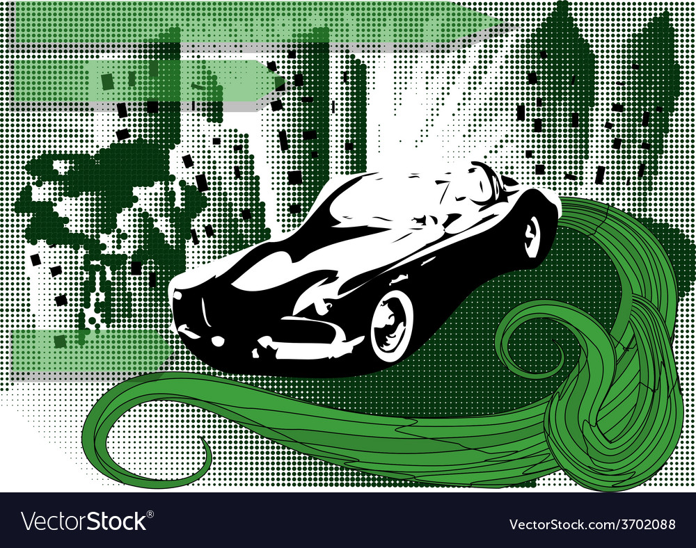 Background with car vector | Price: 1 Credit (USD $1)
