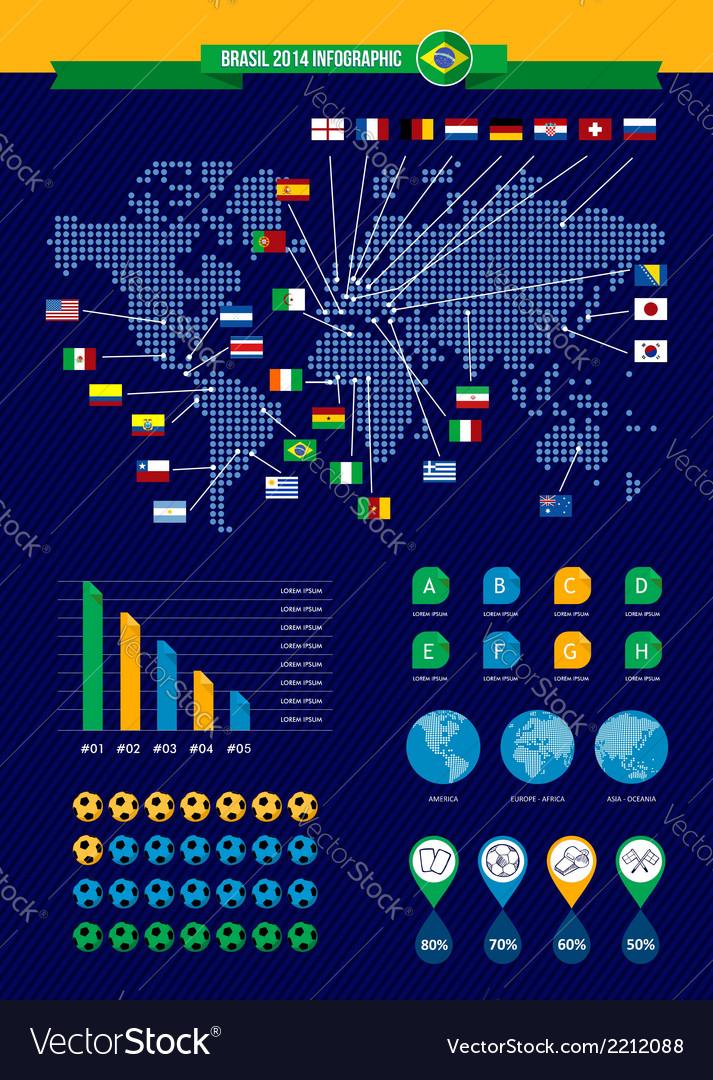 Brazil soccer championship infographic vector | Price: 1 Credit (USD $1)