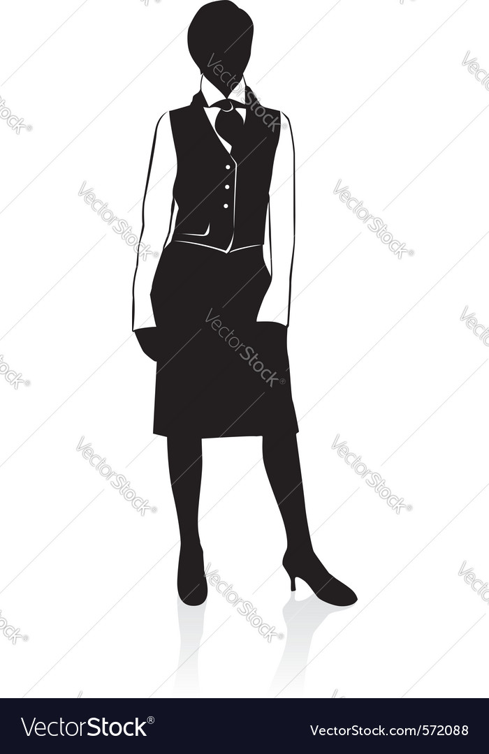 Businesswoman silhouette vector | Price: 1 Credit (USD $1)