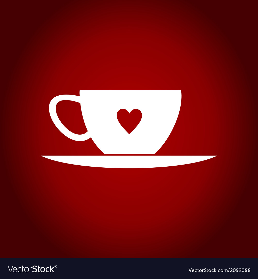 Cup heart vector | Price: 1 Credit (USD $1)