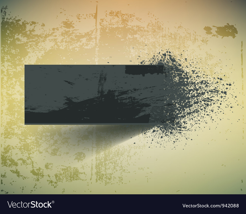 Dark grunge ink splash banner vector | Price: 1 Credit (USD $1)