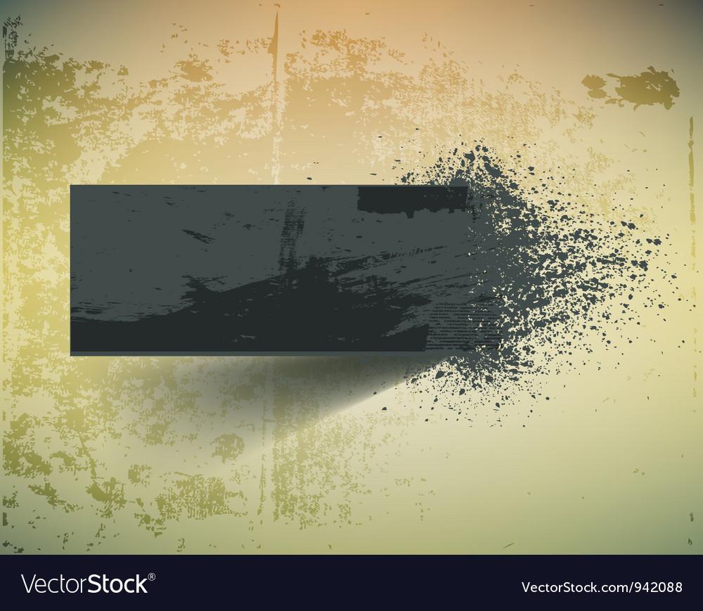 Dark grunge ink splash banner vector | Price: 1 Credit (USD $1)