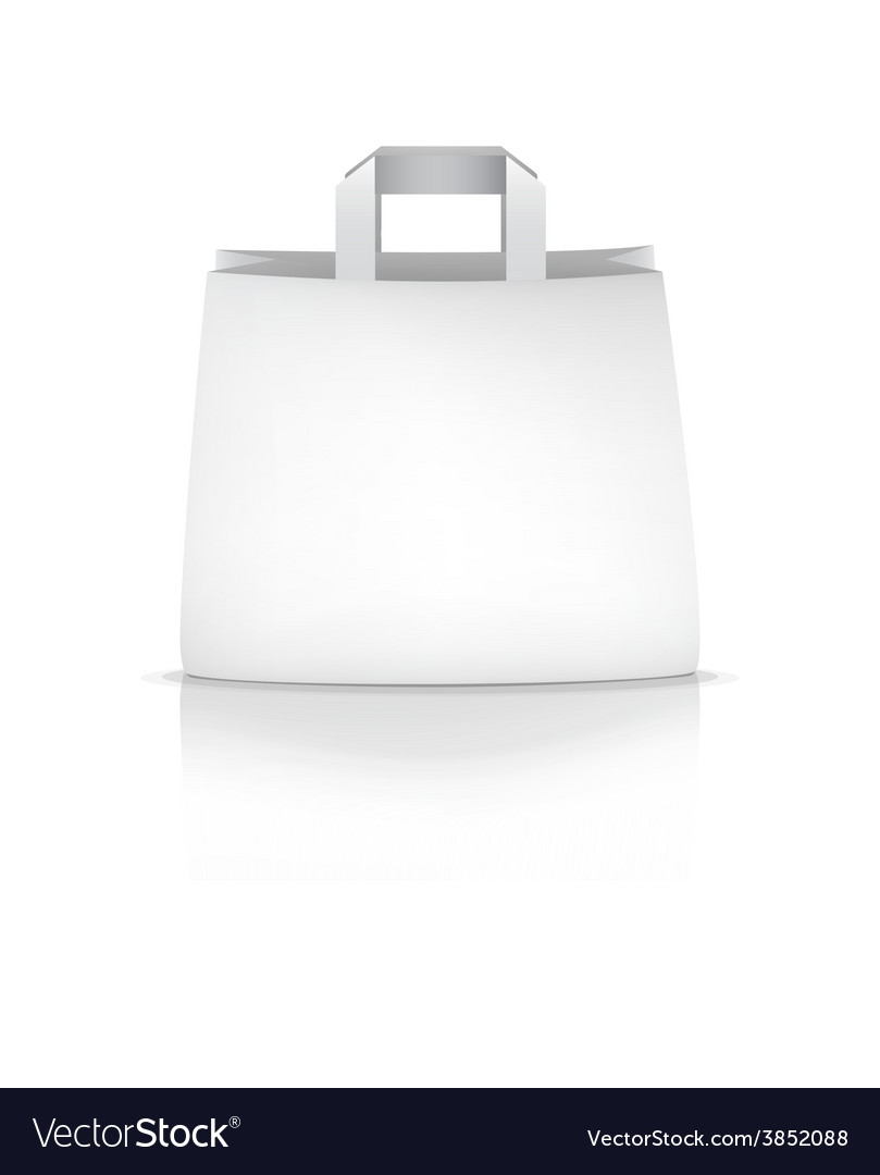 Empty white shopping paper bag vector | Price: 1 Credit (USD $1)