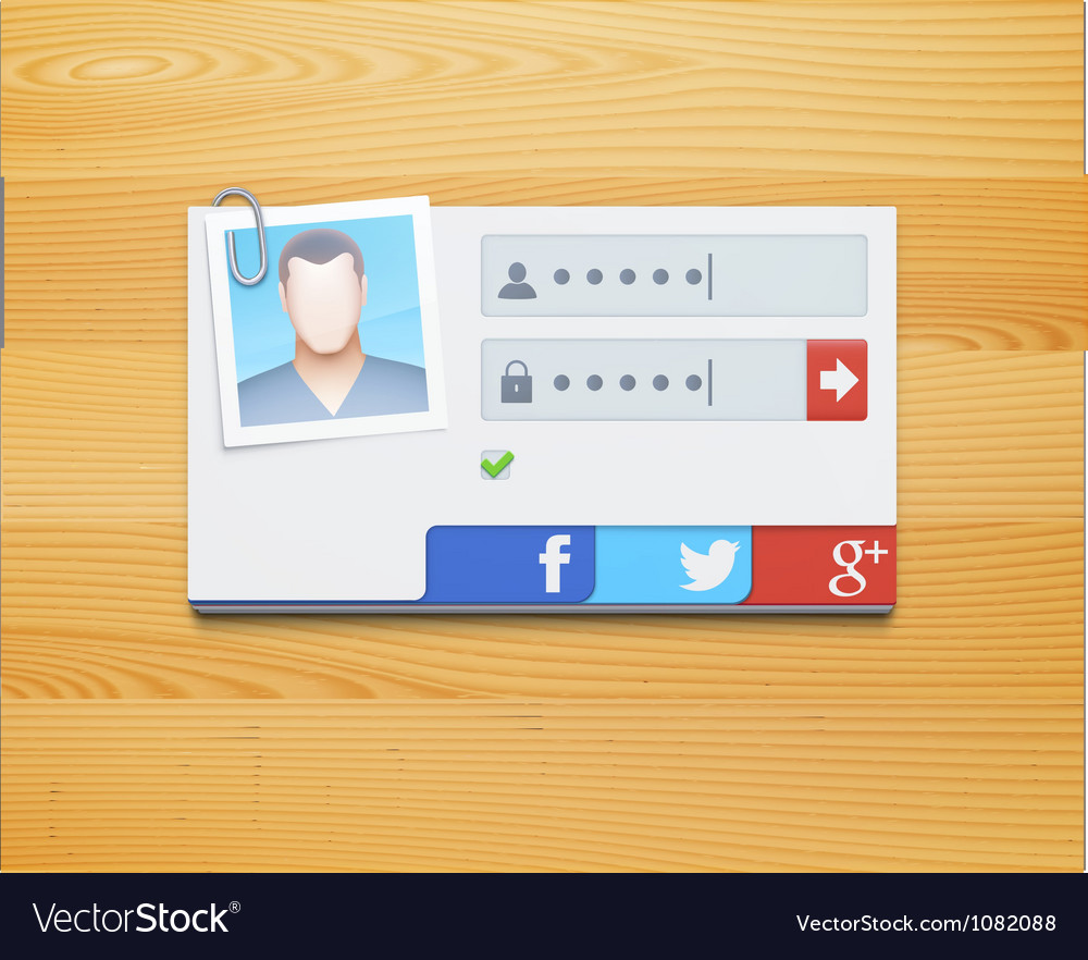 Login screen concept vector | Price: 1 Credit (USD $1)