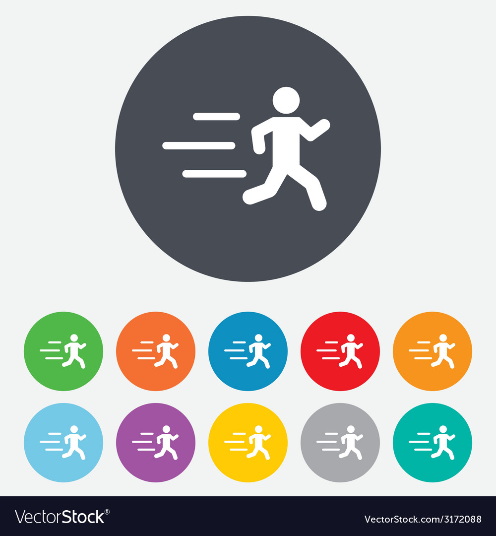 Running sign icon human sport symbol vector | Price: 1 Credit (USD $1)