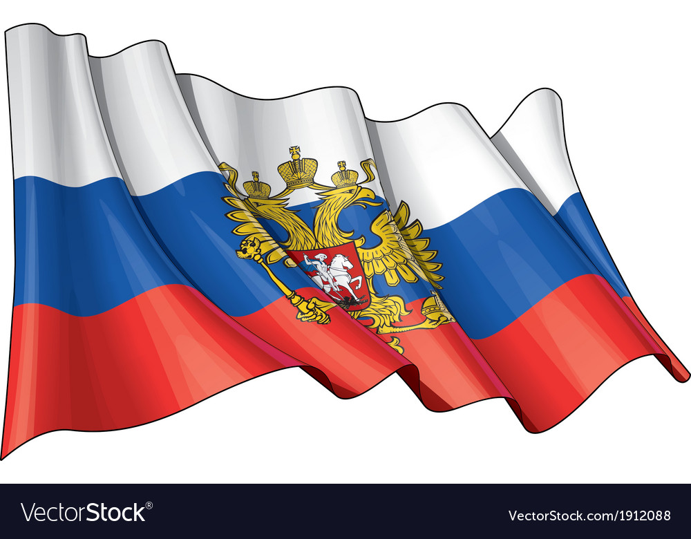 Russia state flag vector | Price: 1 Credit (USD $1)