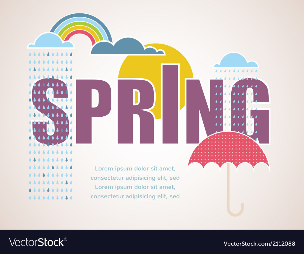 Spring time card vector | Price: 1 Credit (USD $1)