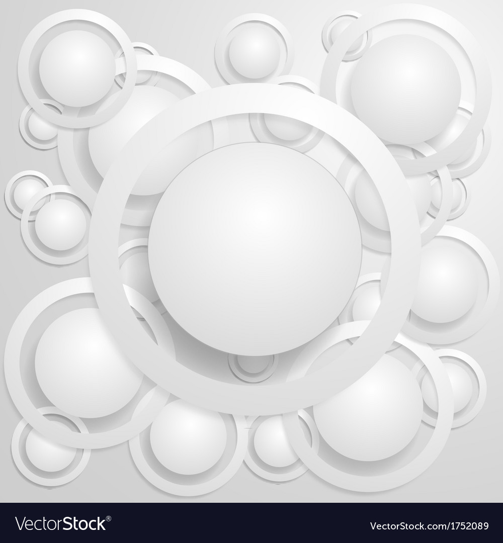 Abstract circles with shadows vector | Price: 1 Credit (USD $1)