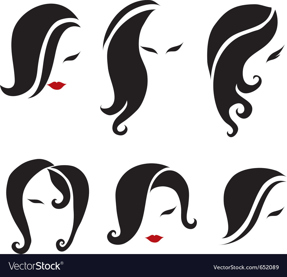 Black hair styling vector | Price: 1 Credit (USD $1)