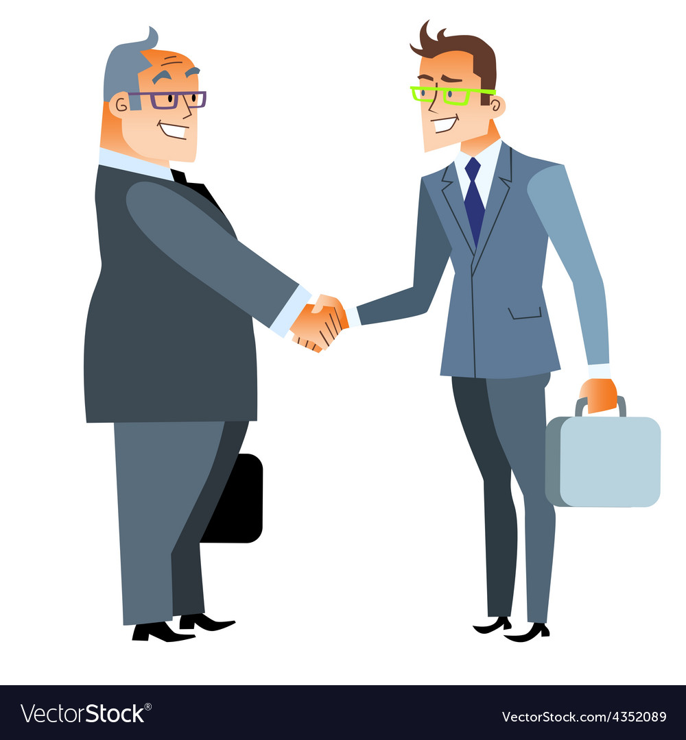 Business handshake deal finance and contract vector | Price: 1 Credit (USD $1)