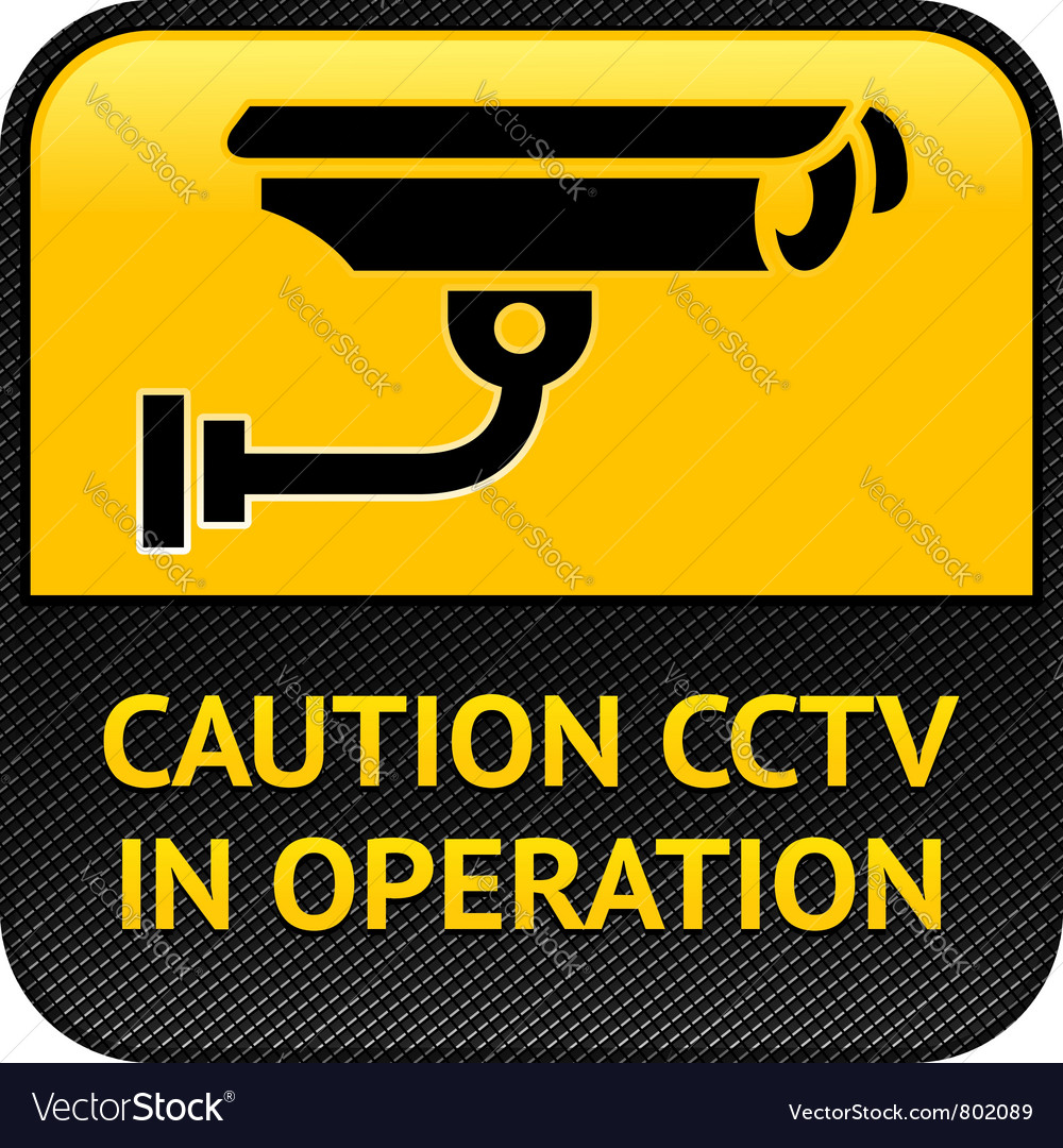 Cctv symbol pictogram security camera vector | Price: 1 Credit (USD $1)