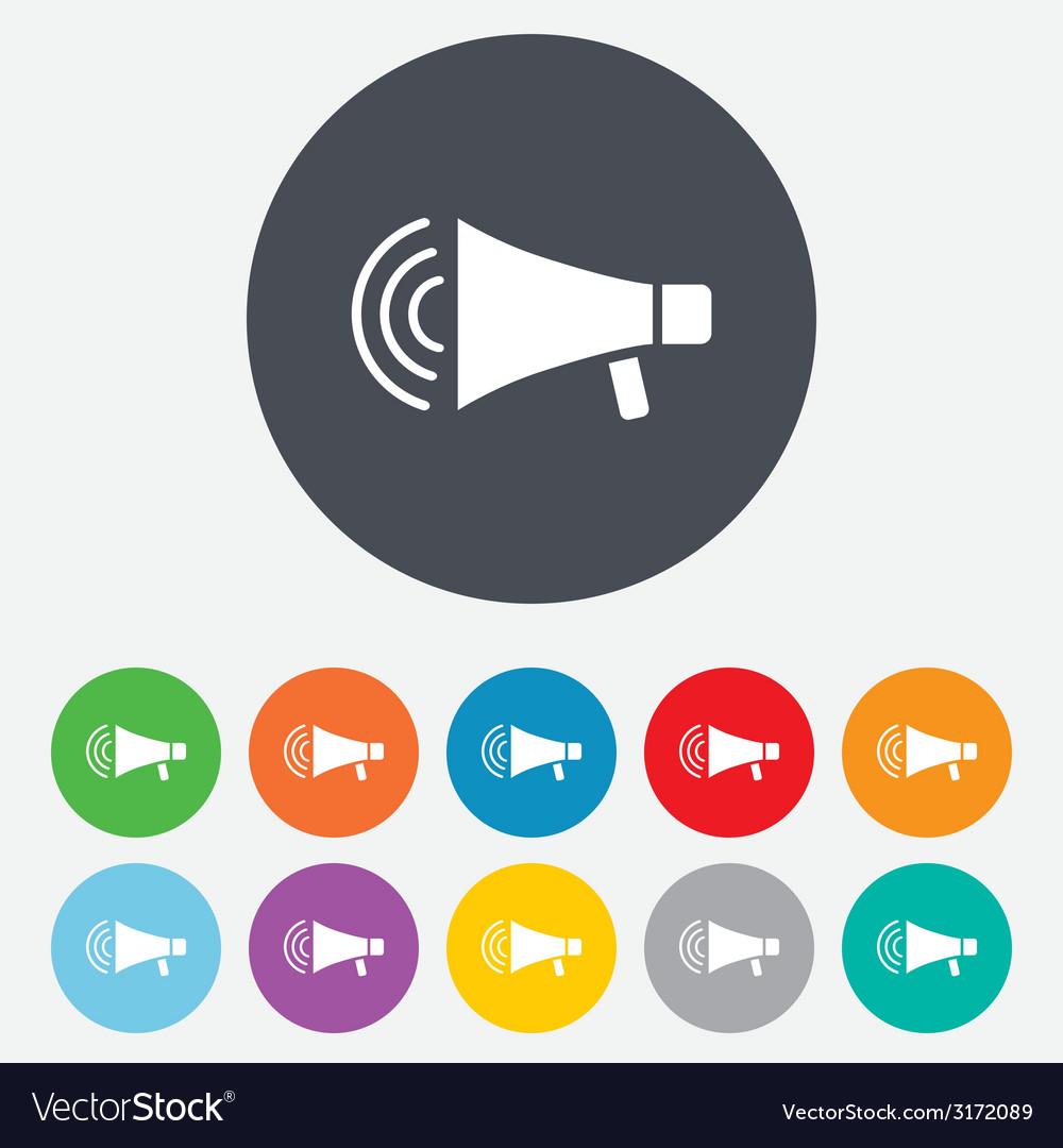 Megaphone sign icon loudspeaker strike symbol vector   Price: 1 Credit (USD $1)