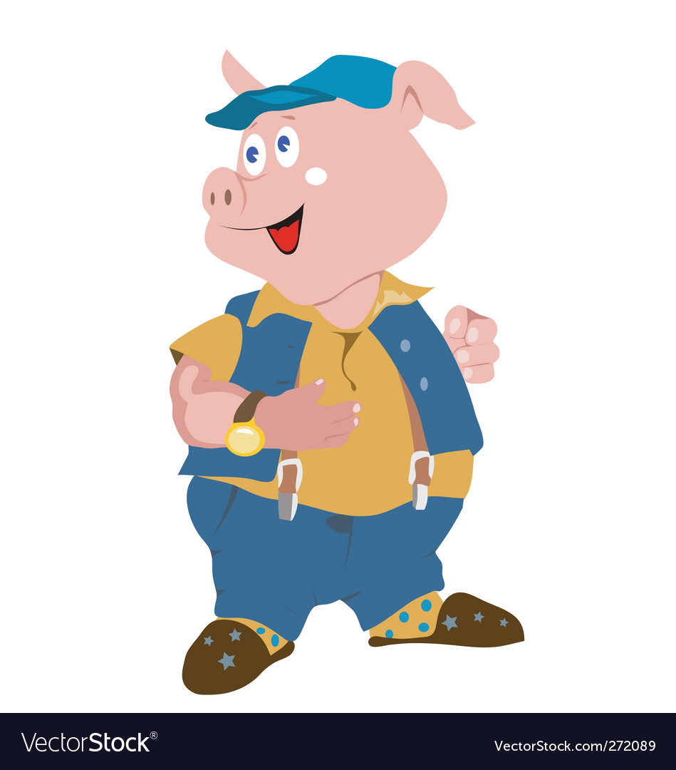 Piggy vector | Price: 1 Credit (USD $1)