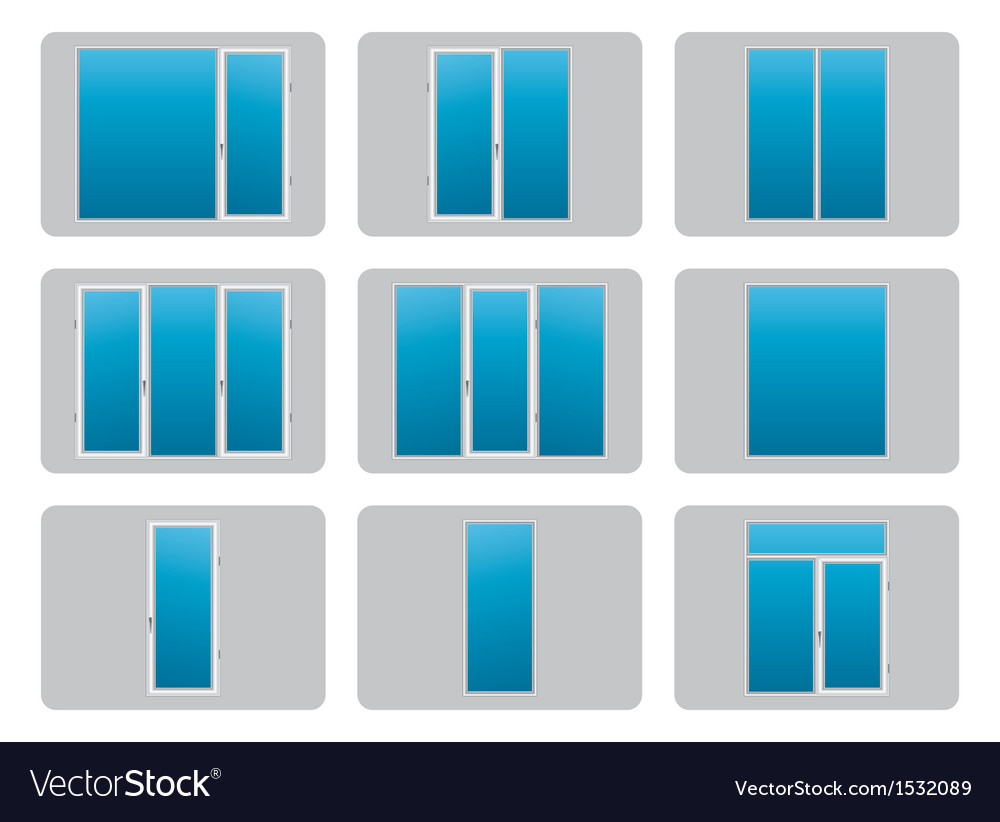 Plastic pvc windows vector | Price: 1 Credit (USD $1)