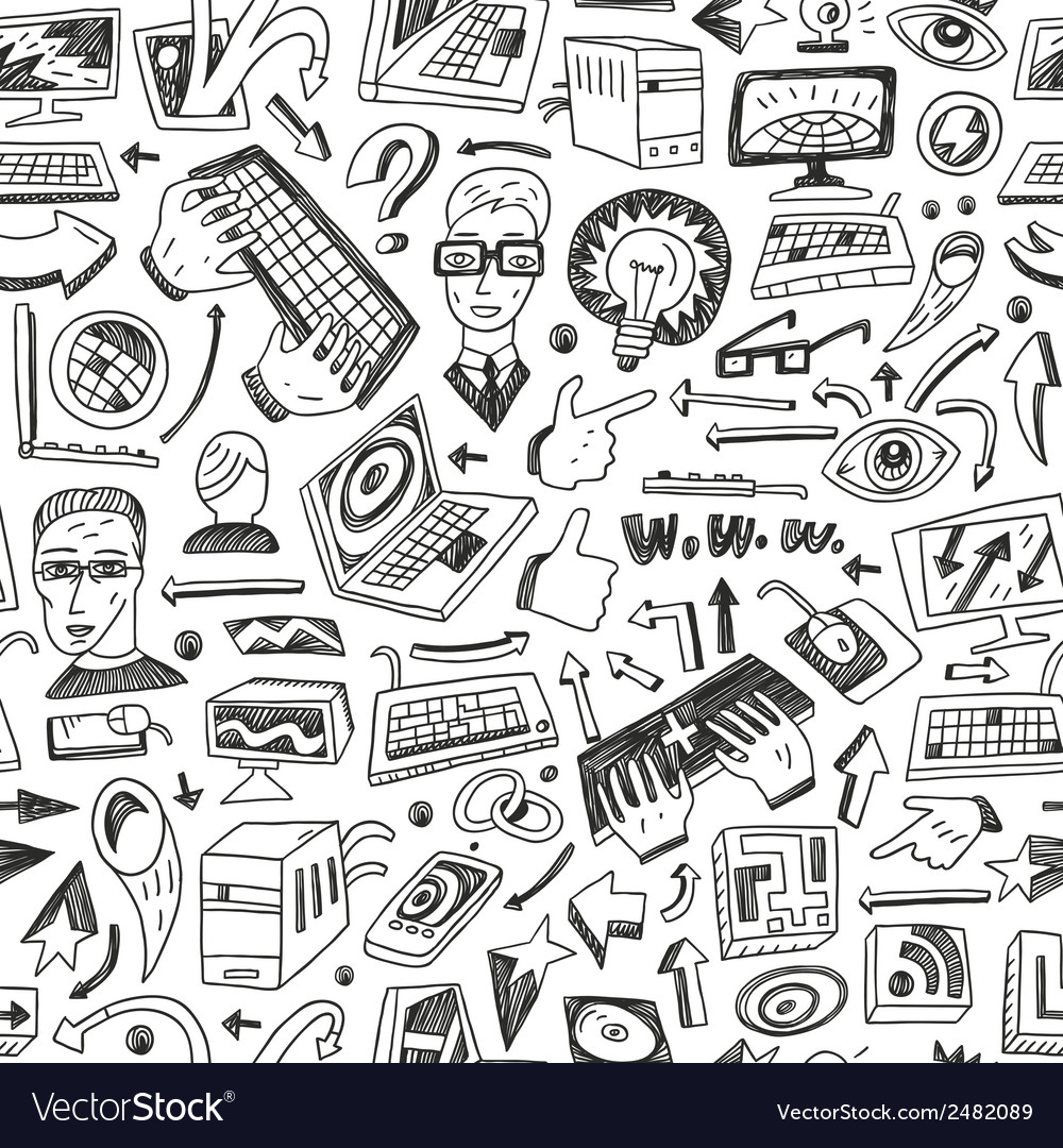 Programming  computers - seamless background vector   Price: 1 Credit (USD $1)