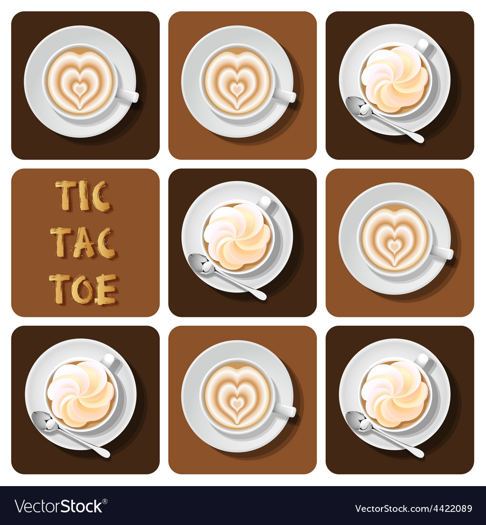Tic-tac-toe of latte vector | Price: 1 Credit (USD $1)