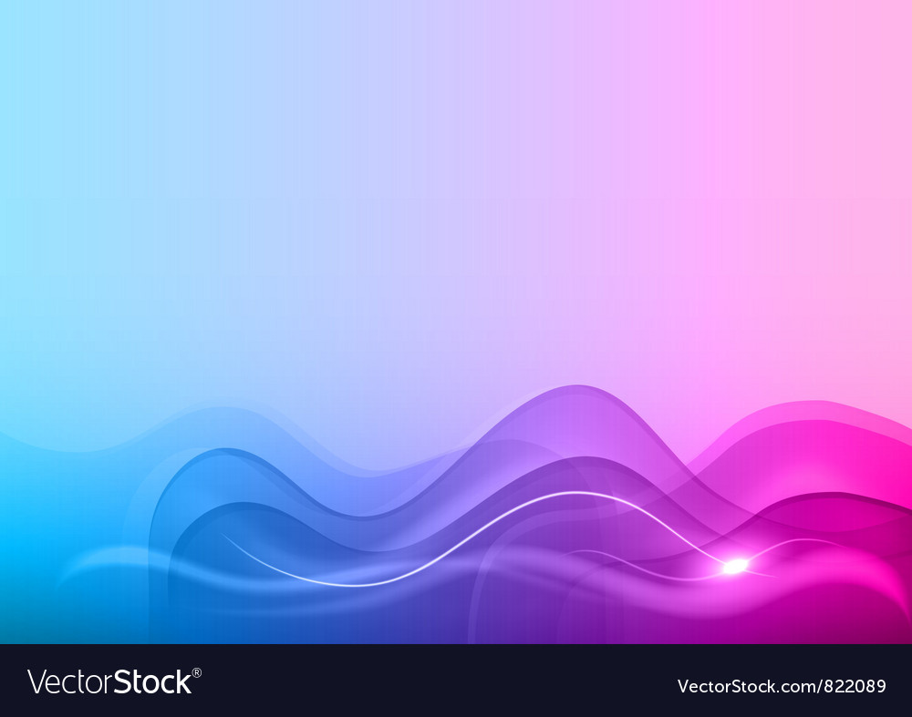 Wave neon light white blue vector | Price: 1 Credit (USD $1)