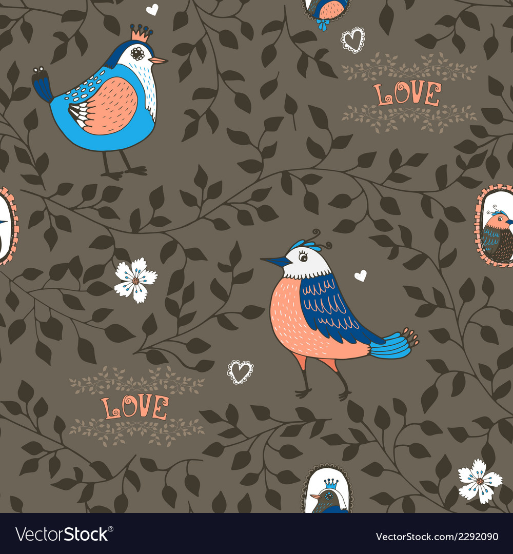 Birds and twigs background vector | Price: 1 Credit (USD $1)