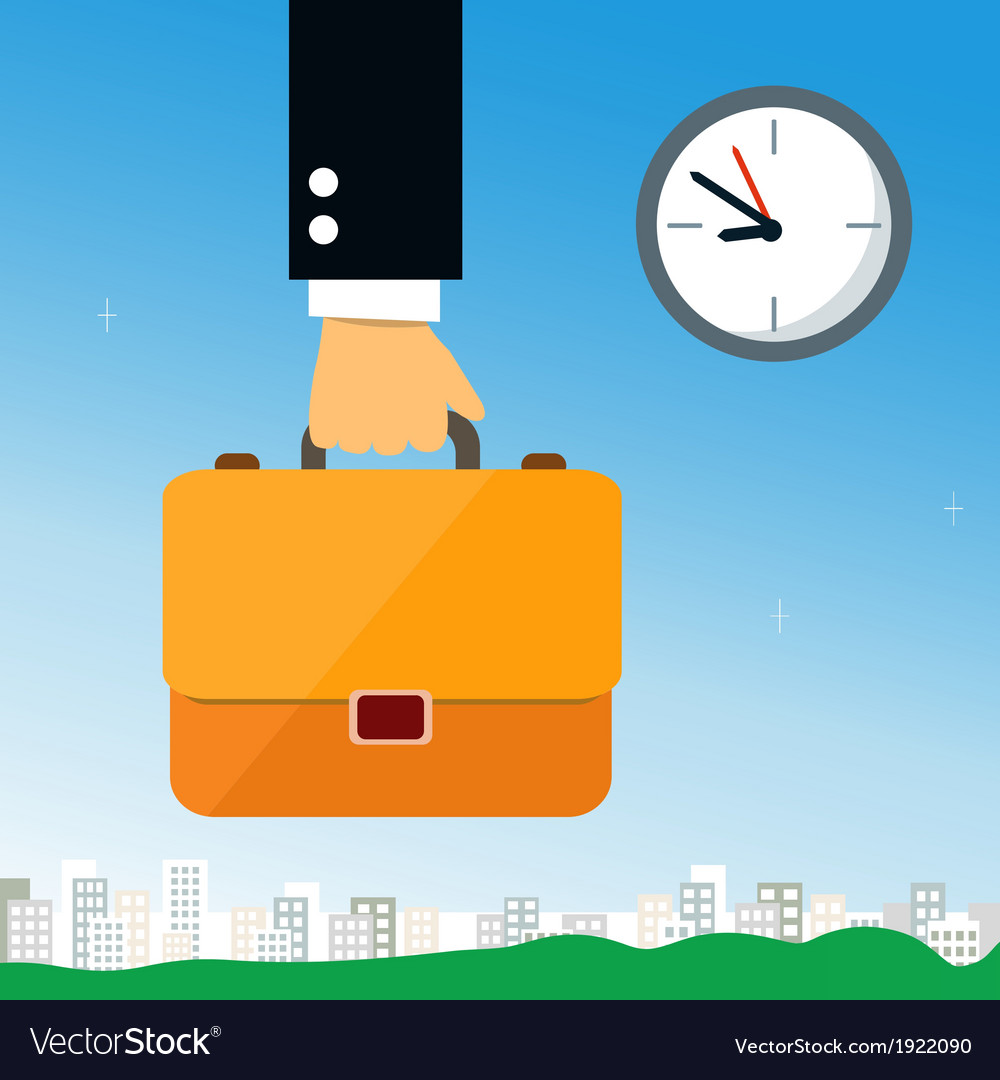 Business hand holding briefcase vector | Price: 1 Credit (USD $1)