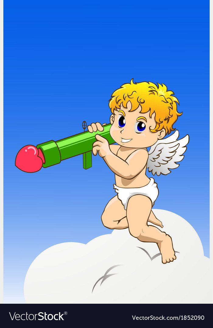 Cupid with bazooka vector | Price: 1 Credit (USD $1)
