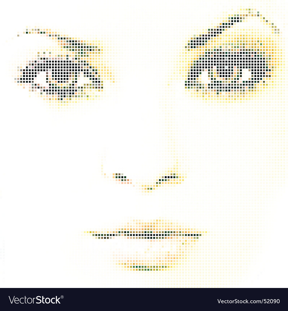 Face mosaic vector | Price: 1 Credit (USD $1)